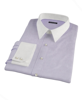 Lilac Heavy Oxford Cloth Custom Made Shirt 