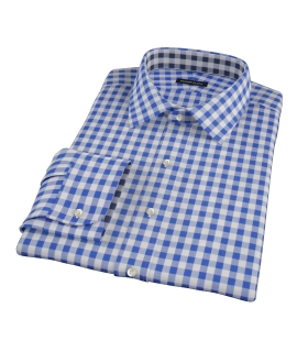 Royal Blue Large Gingham Tailor Made Shirt