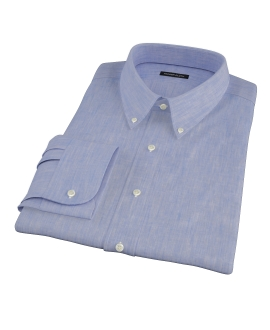 Light Blue Linen-Effect Custom Made Shirt