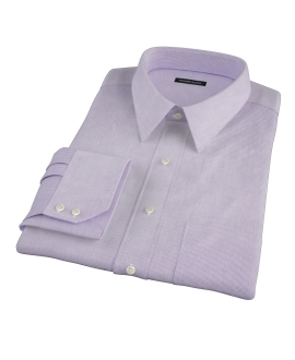 Purple Mini Grid Fitted Shirt