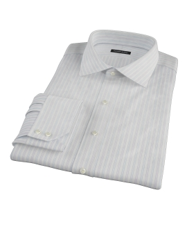 Blue and Lavender Stripe Men's Dress Shirt