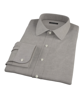 Charcoal 100s Oxford Fitted Dress Shirt