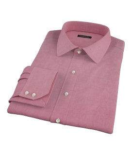 Red Heavy Oxford Cloth Men's Dress Shirt 