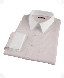 Pink Cavalry Twill Herringbone Tailor Made Shirt 