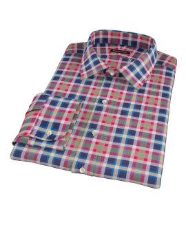 Summer Block Party Fitted Dress Shirt 
