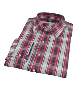 Large Red and Blue Plaid Custom Dress Shirt