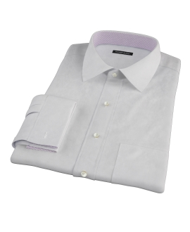Bowery Light Gray Pinpoint Custom Made Shirt