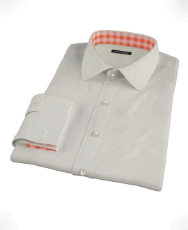 Ivory Easy Care Broadcloth Men's Dress Shirt 