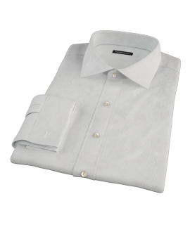 100s Pale Gray Stripe Custom Dress Shirt