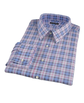 Red and Blue Plaid Custom Dress Shirt