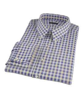 Blue and Yellow Gingham Oxford Tailor Made Shirt