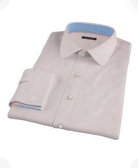 Pink Royal Twill Fitted Shirt