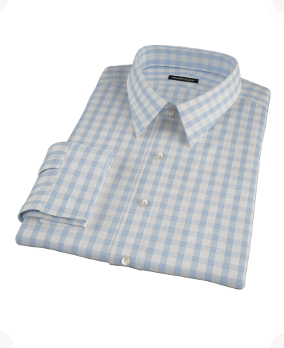 Blue Lavender Windowpane Fitted Dress Shirt
