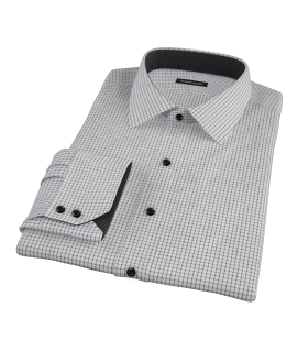 Black Grid Men's Dress Shirt 