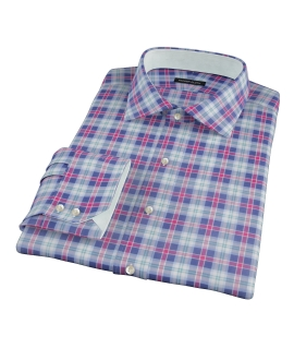 Vincent Blue Red Green Plaid Tailor Made Shirt