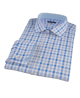 Light Blue and Blue Gingham Dress Shirt 