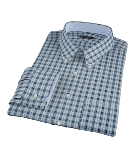 Thompson Light Blue Plaid Men's Dress Shirt 