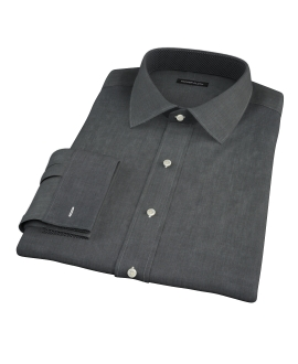 Jones Charcoal End on End Custom Dress Shirt