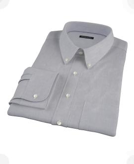 Blue End-on-End Fitted Dress Shirt