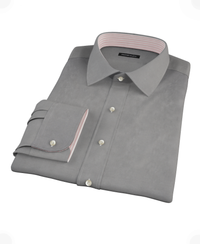 Dark Gray Pinpoint Custom Dress Shirt 