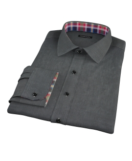 Jones Charcoal End on End Fitted Shirt