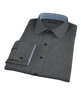 Jones Charcoal End on End Custom Made Shirt
