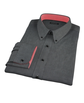 Jones Charcoal End on End Men's Dress Shirt