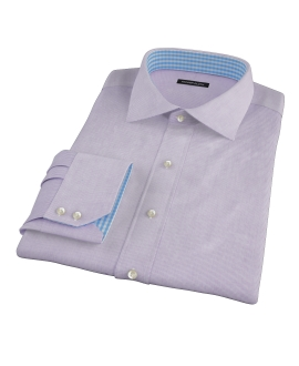 Purple Mini Grid Dress Shirt
