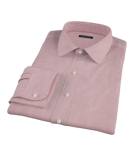 100s Red University Stripe Fitted Shirt