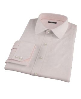 Bowery Peach Pinpoint Fitted Dress Shirt