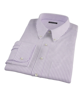 Greenwich Lavender Bordered Stripe Tailor Made Shirt 