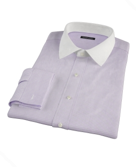 Lavender Multi-Check Custom Made Shirt