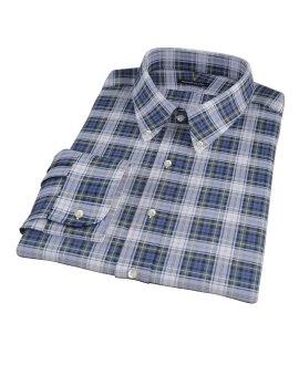 Blue Green Tartan Men's Dress Shirt
