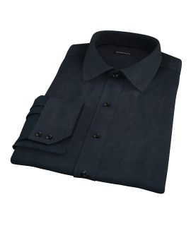 Navy Broadcloth Fitted Shirt