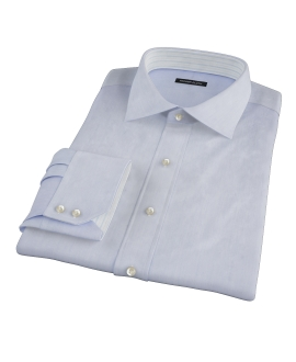 Albini Blue Super Fine Stripe Fitted Dress Shirt
