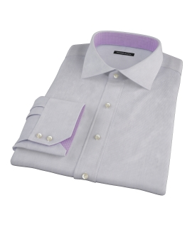 Albini Purple Fine Stripe Men's Dress Shirt