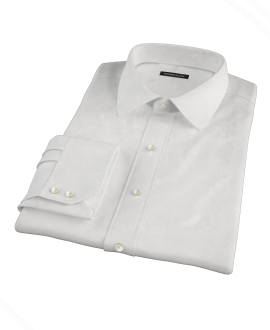 Canclini White Broadcloth Tailor Made Shirt