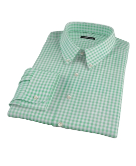 Medium Light Green Gingham Tailor Made Shirt