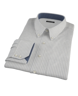 Japanese Light Blue and Gray Stripe Custom Made Shirt