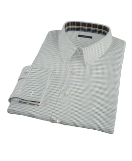 Green and Blue Check Fitted Shirt