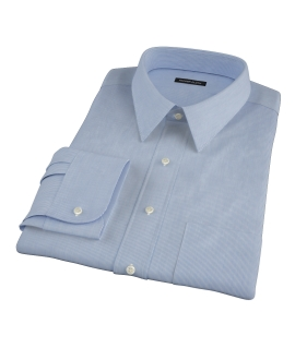 Albini Blue Fine Stripe Dress Shirt