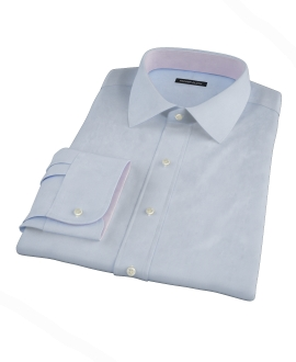Light Blue 100s Oxford Men's Dress Shirt