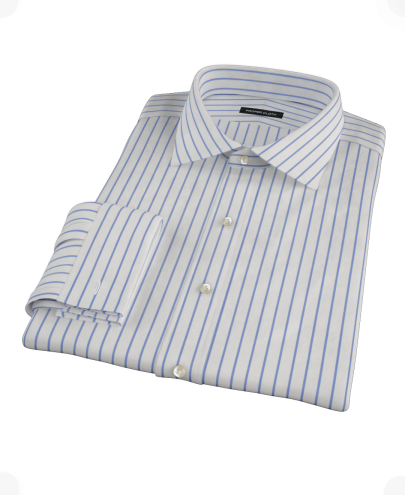 Navy Stripe Custom Dress Shirt