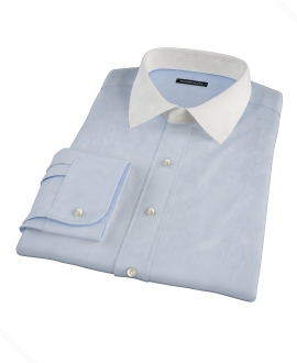 Light Blue End on End Fitted Dress Shirt