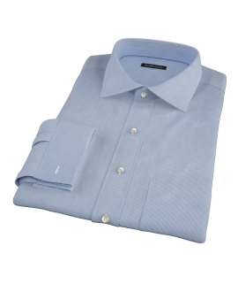 Albini Blue Fine Stripe Custom Made Shirt