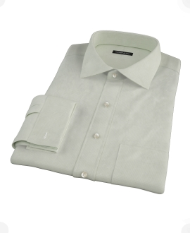 Soft Green Basketweave Fitted Shirt