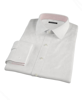 White Egyptian Twill Custom Dress Shirt