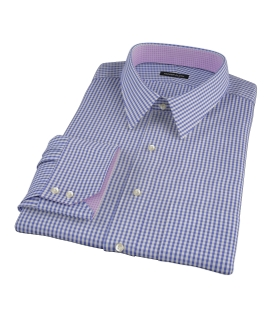 Small Blue 100s Gingham Dress Shirt