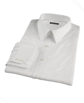 Thomas Mason 80s White Pinpoint Fitted Dress Shirt