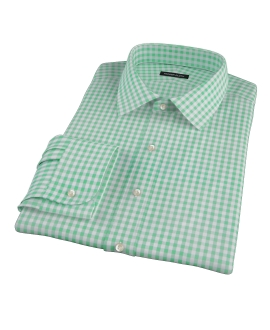 Medium Light Green Gingham Custom Made Shirt